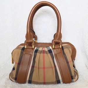 Burberry Brown Nova Check Satchel